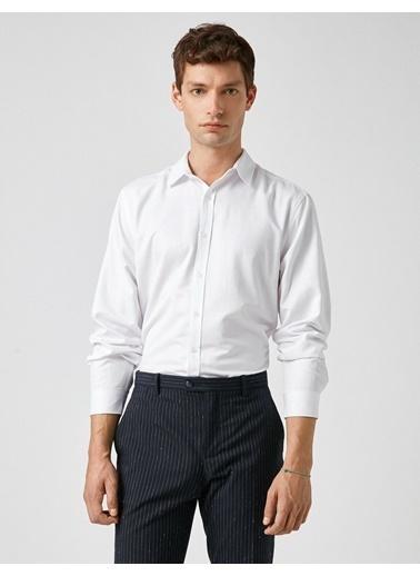 Koton Uzun Kollu Basic Gömlek Beyaz